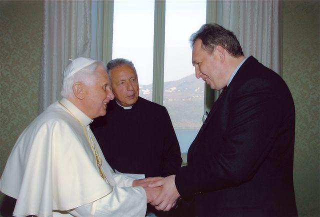 Pope Benedict XVI received Nick Goryachkin